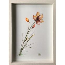 Fleur, peinture acrylique...