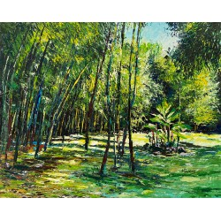 La bambouseraie, peinture...