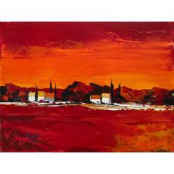 Paysage provençal, peinture...